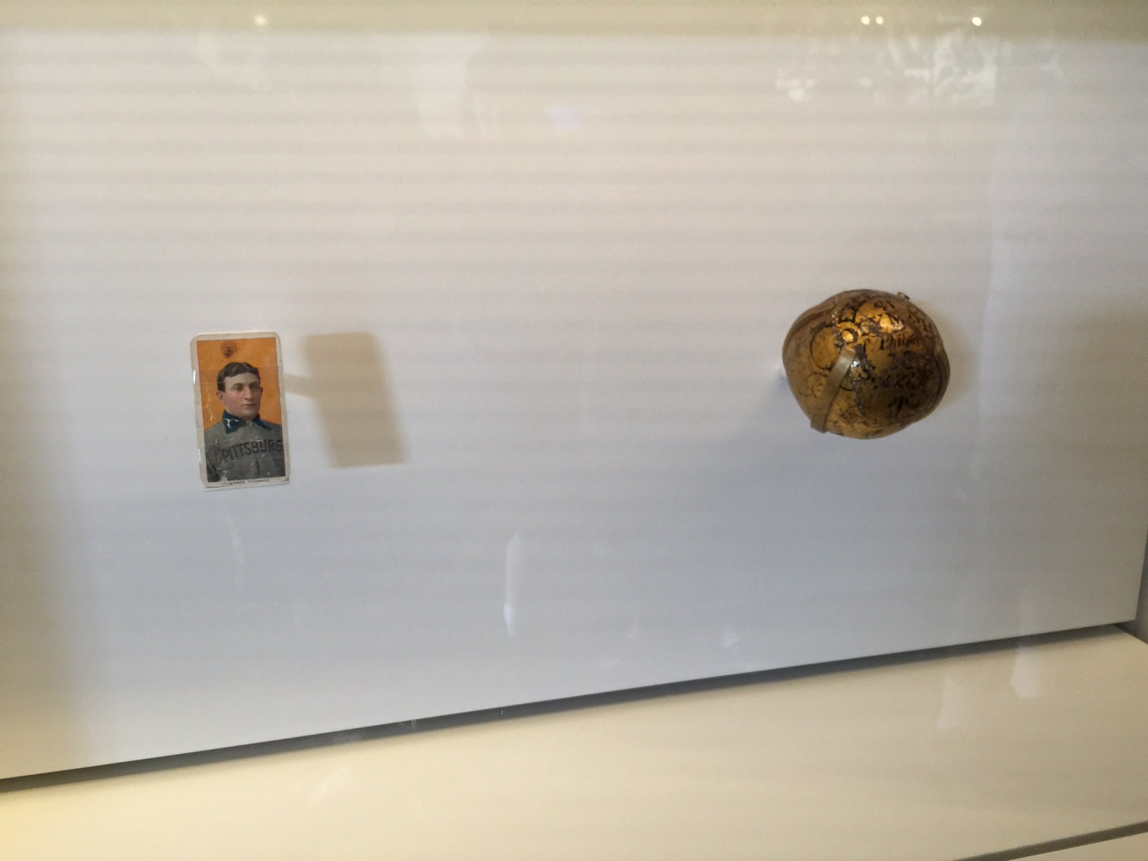 A Honus Wagner baseball card worth more than one million dollars is on display at the Hall of Fame exhibit in Davenport.