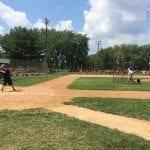 Davenport's Kieran O'Brien is pictured batting in the home run derby.
