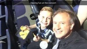 sean and jackson at rick springfield concert