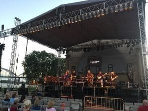 Brandon Shupp and his band perform Sunday night as part of the Q-C Festival of Praise in Davenport's LeClaire Park.