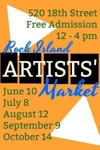 October Rock Island Artists' Market Last Of The Season