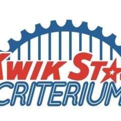 Kwik Star Criterium Rolling into Village of East Davenport
