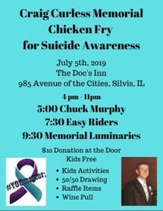 10th Annual Craig Curless Memorial Chicken Fry Happens This Friday!