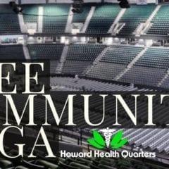 Howard Health Quarters' Free Community Yoga Celebrates 2 Year Anniversary!