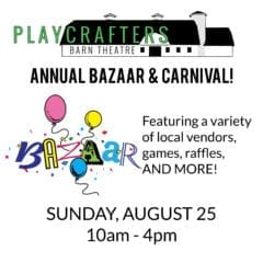 Have some Bazaar! Fun at Playcrafters Barn Theatre