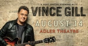 Country Music Legend Vince Gill Coming to the Quad Cities!