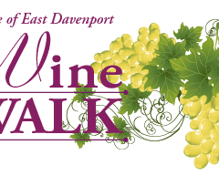 Wine Walk with Friends in the Village of East Davenport