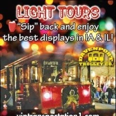 Jump on the Holly Jolly Trolley for a Holiday Light Tour!