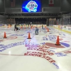 Painting The Ice For Veterans With The Quad City Storm!