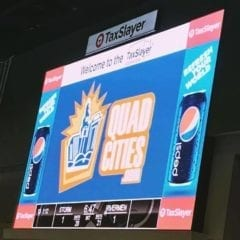 The new 2019 QuadCities.com banner at the TaxSlayer Center