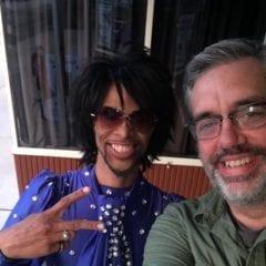 Speakeasy owner Brett Hitchcock with popular Prince impersonator Gemini