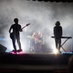 Local band Giallows in performance