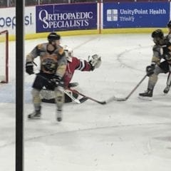 Quad City Storm in their KISS jerseys