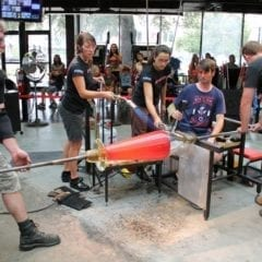 Grand opening of Hot Glass in downtown Davenport
