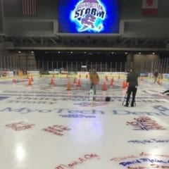 Quad City Storm's paint the ice event