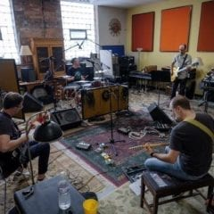 Tripmaster Monkey in the studio working on their new album.