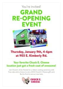 Chuck E. Cheese Gets a Fresh Coat of Awesome!