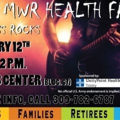 Wellness Rocks at 2020 MWR Health Fair