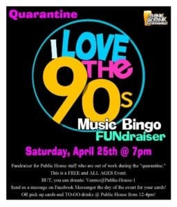 Quarantine 90's Music Bingo with Public House