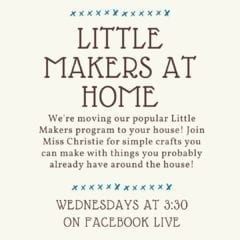 Davenport Public Library Goes Virtual with Little Makers at Home