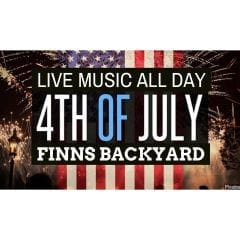 July 4th Backyard Party at Finns Grill