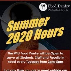 Western Illinois University Food Pantry Announces Summer Hours