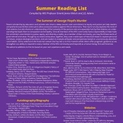 WIU Summer Reading List Focuses on Raising Understanding and Awareness of Racism