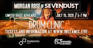 Drum Clinic with Morgan Rose of Sevendust Rockin In