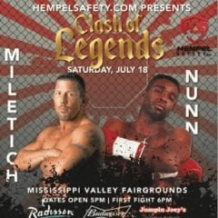 Nunn and Miletich Fight Live at Mississippi Valley Fairgrounds