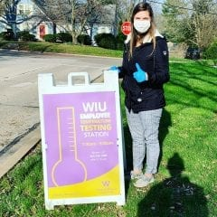WIU Health Sciences and Social Work Students Helping Patients During Pandemic