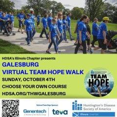Huntington's Disease Walk Being Held In Galesburg October 4