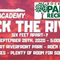 Rock the River Six Feet Apart-y