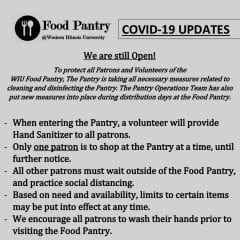 Western Illinois University Food Pantry Implementing New COVID-19 Procedures