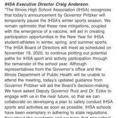 BREAKING NEWS: Illinois High School Sports Put On Hold, Return Time Uncertain
