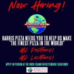 Harris Pizzas Throughout Quad-Cities Hiring Now