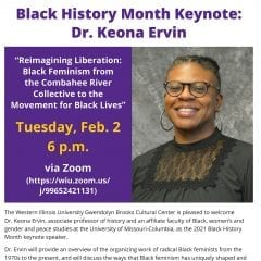 Ervin to Deliver WIU's Black History Month Keynote Address Virtually Feb. 2