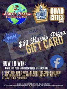 QuadCities.com And Harris Pizza Are Teaming Up For A Delicious Deal!