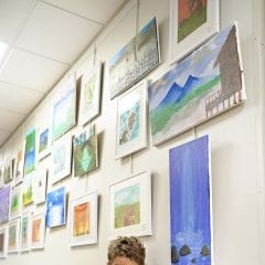 8-Year-Old Davenport Boy Has Colorful Art Exhibit at Botanical Center
