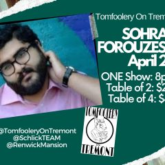 Laugh Along With Sohrab Forouzesh Tonight At Tomfoolery On Tremont
