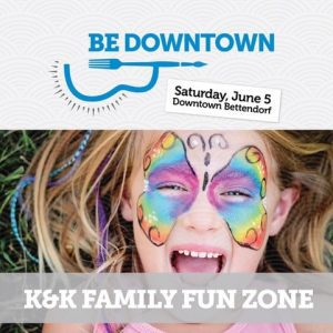 """""""Be Downtown"""" June 5 in Bettendorf Features Bands, Bags, Bites and Beverages"""