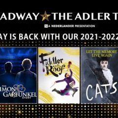 """BREAKING:""""Rent,"""" """"Fiddler,"""" """"Cats,"""" Simon & Garfunkel Tribute Part of New Adler Series"""