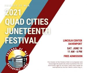 Free Juneteenth Festival Saturday at TMBC at Lincoln Center, Davenport