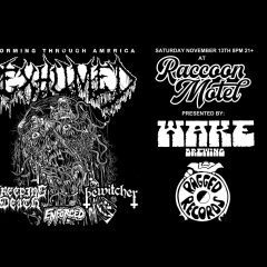 NEW CONCERT ALERT! Exhumed, Creeping Death, Bewitcher And Enforced Rocking Raccoon Motel