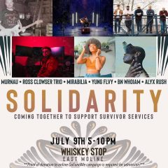 The poster for a July 9 live-music fundraiser at the Whiskey Stop, 726 15th Ave., East Moline.