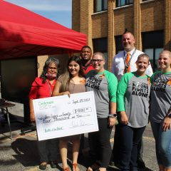 Rock Island's Denkmann Principal and Staff Shave their Heads for Student Battling Cancer